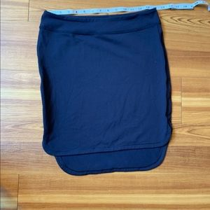 Lulalemon Navy High Low Athletic Stretch Skirt